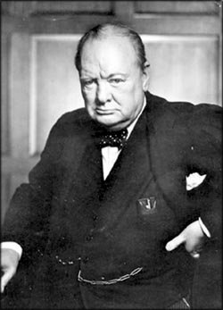 Winstong Churchill: Photo of Winston Churchill in 1941.