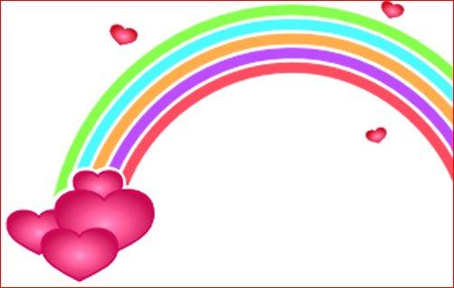 Love heart drawings rainbow