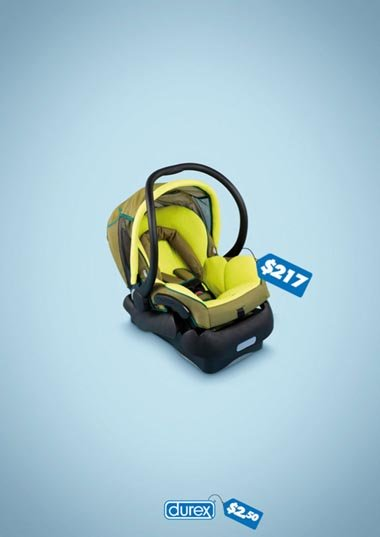 Durex commercial - funny condom ad - baby auto chair