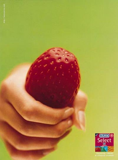 Durex commercial: Durex select - strawberry in hand - fruit flavoured