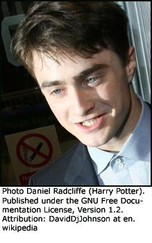 Famous movie quotes: Photo of Daniel Radcliffe (Harry Potter).