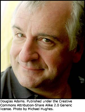 Famous quotations: Photo of Douglas Adams.