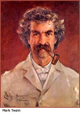 Painting of Mark Twain