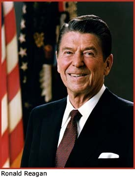 Photo of former President Ronald Reagan.