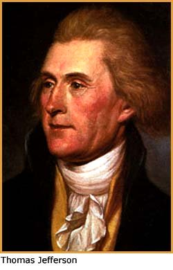 Painting of former US Presiden Thomas Jefferson.