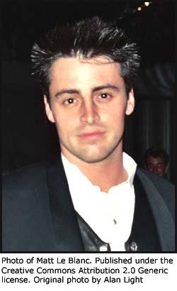 Photo of Matt LeBlanc (Joey) from Friends