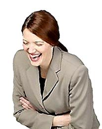Photo of woman laughing.