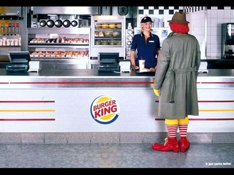 Funny Burger King commercial - very funny ads, Ronald McDonald visits Burger King