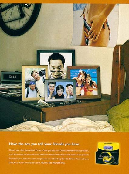 Durex commercial: really funny ads, photos of friends by the bed