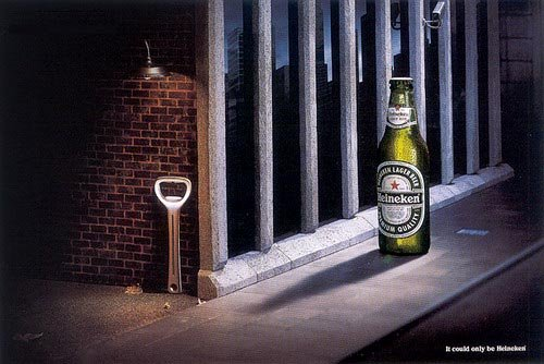 Fantastic Heineken ads - beer opener in dark alley, The best beer ads
