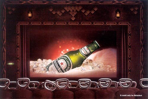 Fabulous heinken beer commercial - sexy bottle on film in the movies - great alcohol ads