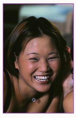 Pretty girl laughing having fun