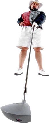 Funny picture of a golfer