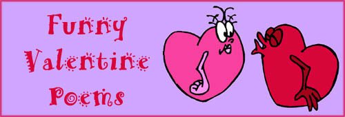 Funny Valentine Poems: Two funny hearts drawing.