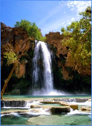Beautiful waterfall in national park.