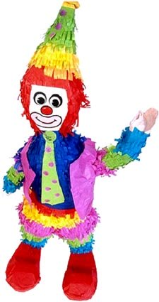 Funny clown puppet.