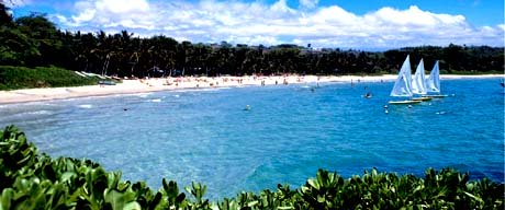 Hawaii nickname: Paradise of the Pacific - picture of beautiful beach