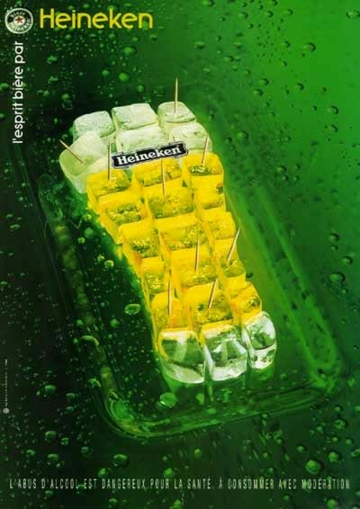 Heineken ice cubes - fab alcohol ads