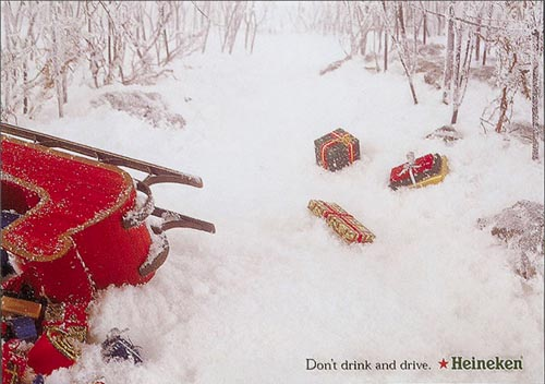 Heineken beer ad: Don't drink and drive. Hiliarious.