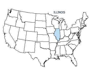 USA map with Illinois highlighted