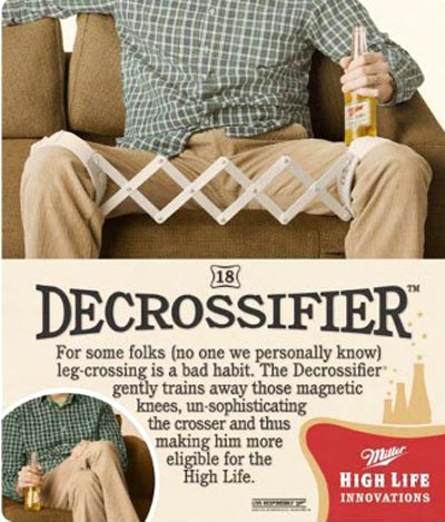 Funny Miller beer commercial - Decrossifier - High Life Innovations.
