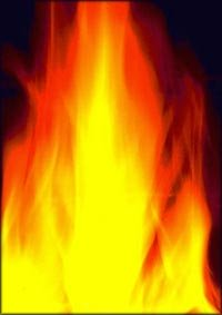 Motivational quotes: Orange flame, burning fire.