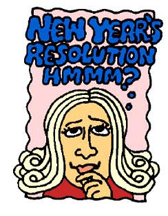 Woman thinking about her New Year Resolutions.