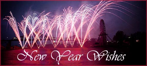 Unique new year wishes messages and greetings beautiful pink firework in the night sky m4hsunfo Gallery