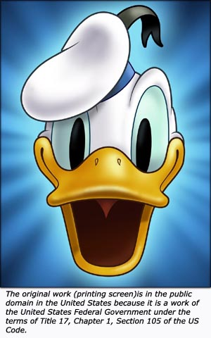 Funny Donald Duck.