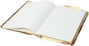 Start a new life with your resolutions: Writing your own book with blank pages.
