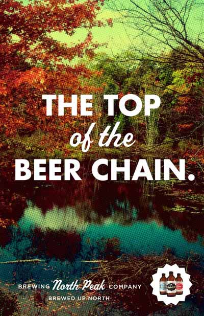 North Peak beer commercial - The Top of the Beer Chain.