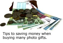 Saving money on gifts: Australian money and coins.