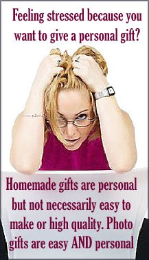 Woman stressed over gift.
