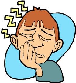Sleeping jokes: funny drawing of man sleeping sitting upright ... zzzzzzzz