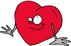 Really funny quick jokes: funny love heart drawing.