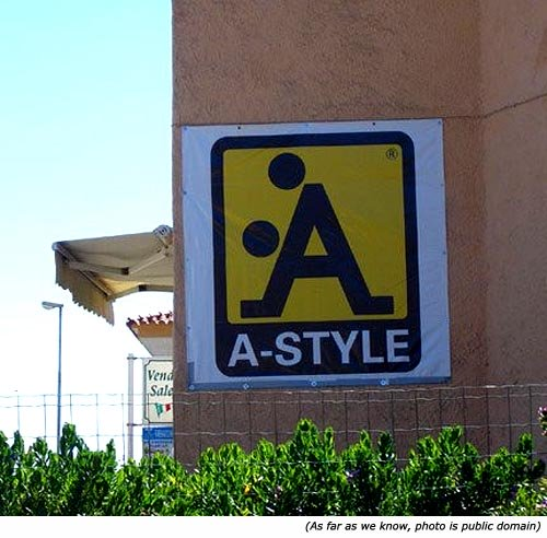 Poster on wall: A-style