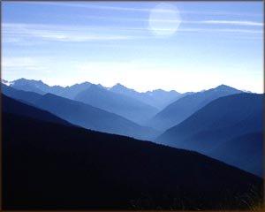 Blue mountain scenery.