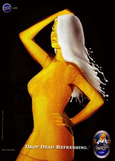 St. Pauli Girl ad - Drop Dead Refresing!