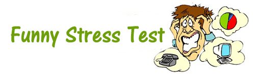 Funny Stress Test: Stressed out office man with stressful thoughts.