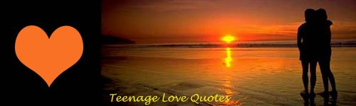 Teenage Love Quotes - couple at the beach looking at the sunset.