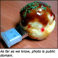 Unusual gifts for men: Funny usb drive shaped like a cake