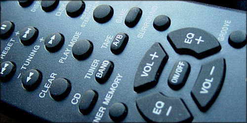 Funny unusual gifts: picture of a giant remote control.