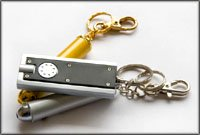 Unusual gifts for men: Small mini flashlights for keychains.