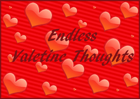 Modern Valentine pictures: Valentine graphic of lots of red hearts.