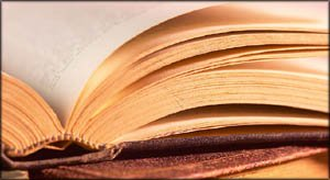 Photo of pages in open book.